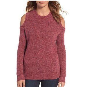 Rebecca Minkoff Merino Wool Cold Shoulder Sweater